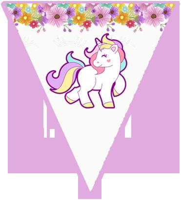paraguita-candy bar unicornio y flores kit imprimible