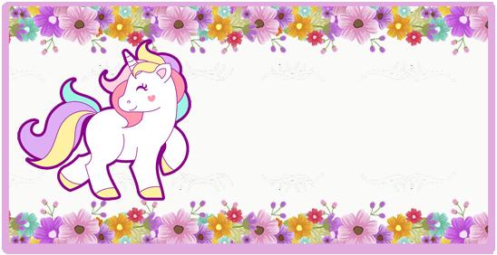 rhodesia-candy bar unicornio y flores kit imprimible