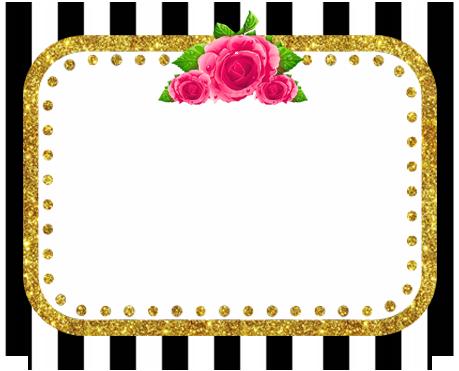 alfajores2 -candy bar rayas y flores kit imprimible
