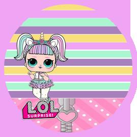 bonobon-candy bar el LOL unicornio kit imprimible