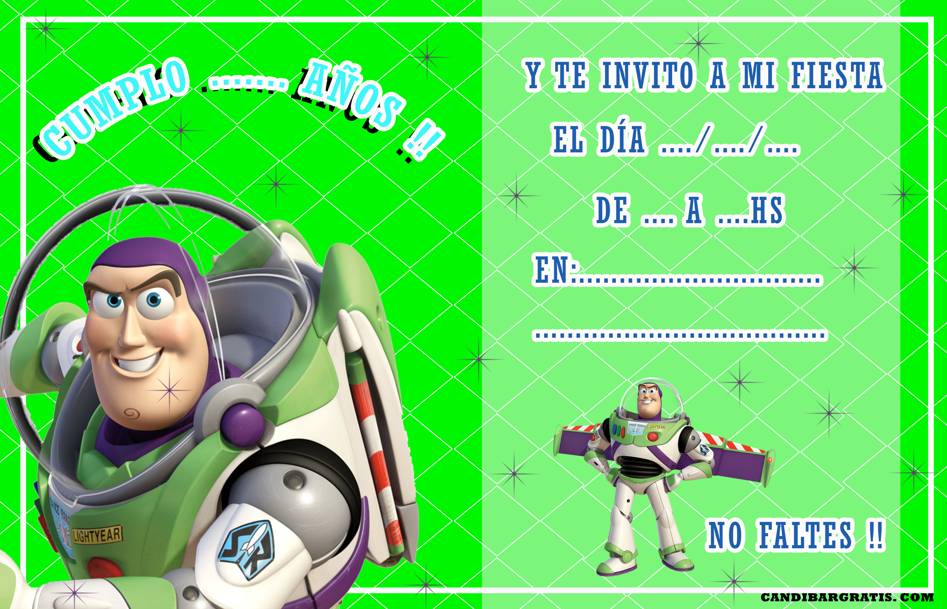 invitacion-tarjetita- candy bar BUZZ kit imprimible