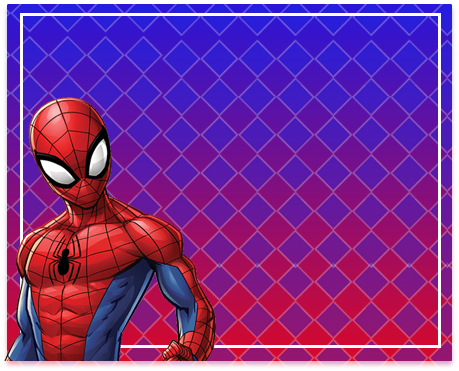 alfajores-candy-bar spiderman animado kit-imprimible