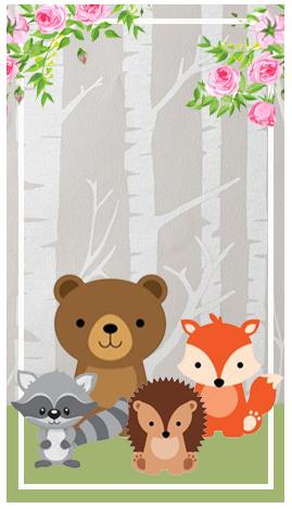 baggio mini-candy-bar animalitos de la selva kit-imprimible