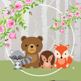 bonobon-candy-bar animalitos de la selva kit-imprimible