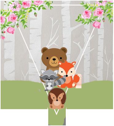 paraguita-candy-bar animalitos de la selva kit-imprimible