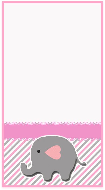 clubsocial -candy bar elefantito tierno kit imprimible