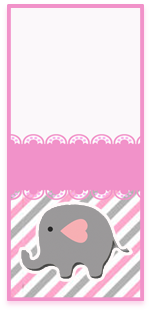 picodulce -candy bar elefantito tierno kit imprimible