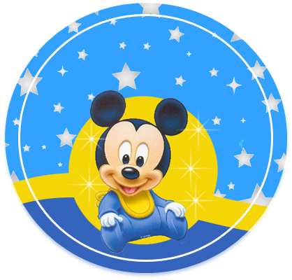 alfajores3 candy bar MICKEY BEBE FONDO ESTRELLAS kit imprimible