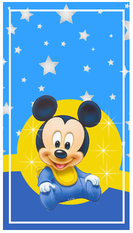 baggio mini candy bar MICKEY BEBE FONDO ESTRELLAS kit imprimible
