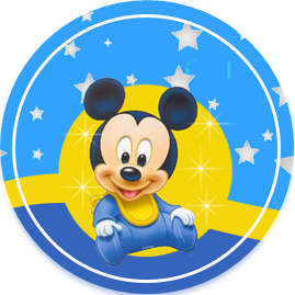 bonobon candy bar MICKEY BEBE FONDO ESTRELLAS kit imprimible