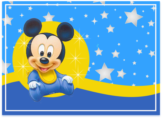 opera candy bar MICKEY BEBE FONDO ESTRELLAS kit imprimible