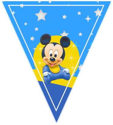 paraguita candy bar MICKEY BEBE FONDO ESTRELLAS kit imprimible