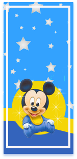 picodulce candy bar MICKEY BEBE FONDO ESTRELLAS kit imprimible