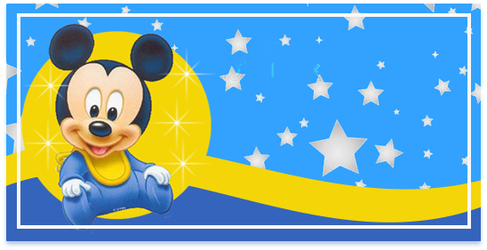 rhodesia candy bar MICKEY BEBE FONDO ESTRELLAS kit imprimible