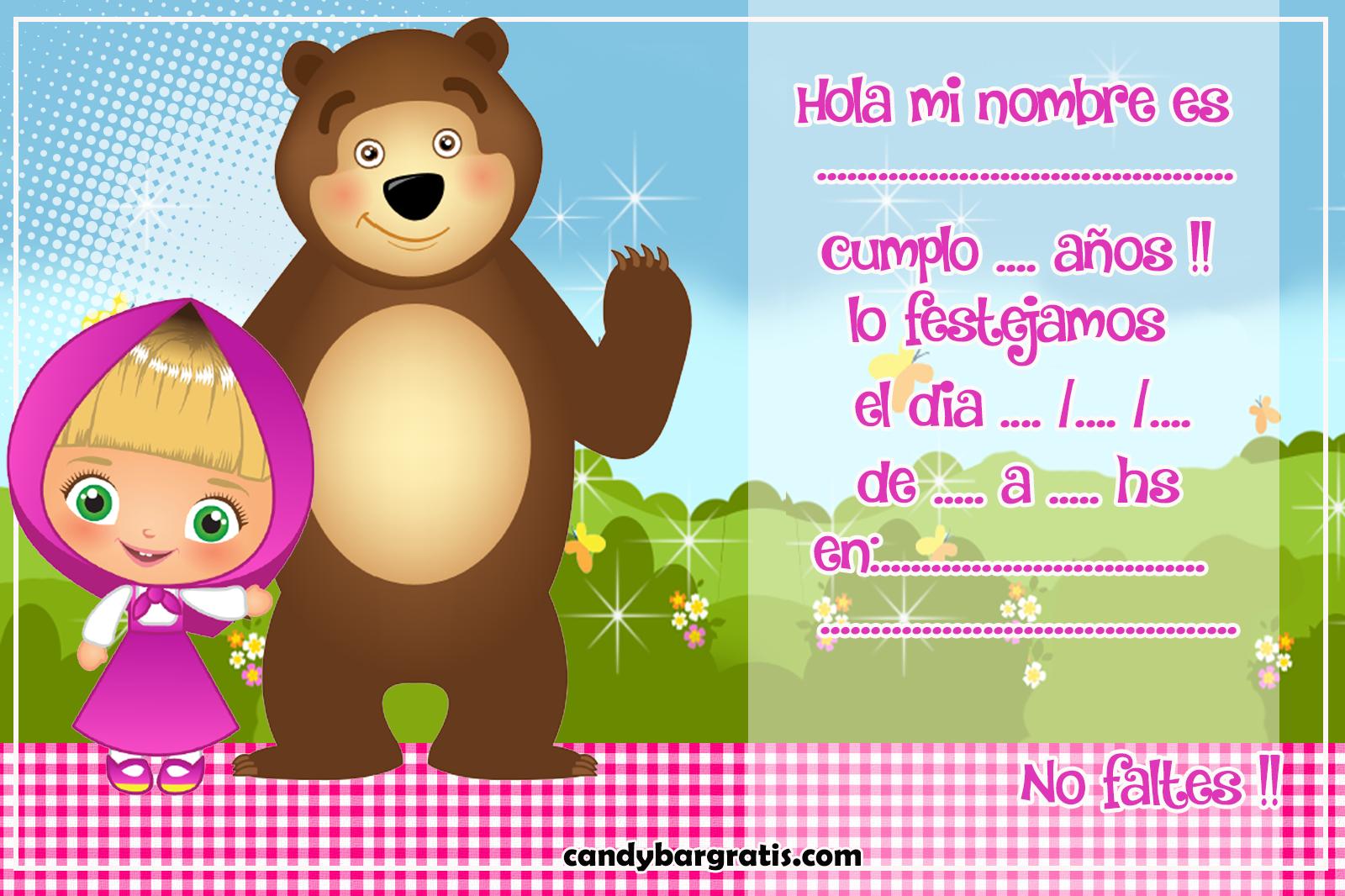 invitacion-tarjetita-candy-bar masha y el oso tiernos kit-imprimible