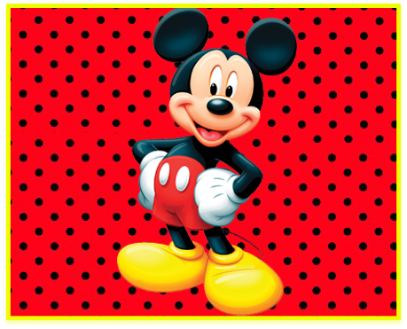 alfajores candy bar mickey kit imprimible