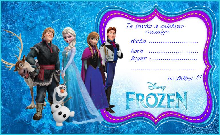 invitacion tarjetita candy bar Frozen kit imprimible