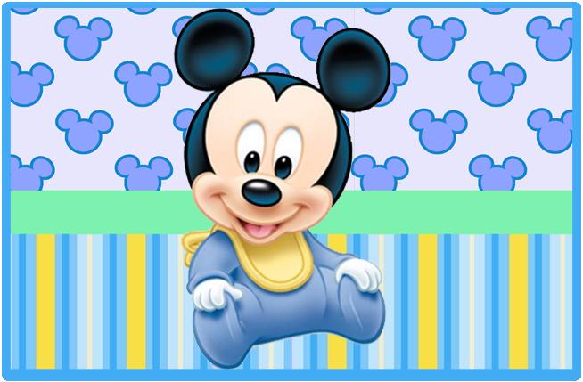 sugusconfitados candy bar Mickey bebe kit imprimible
