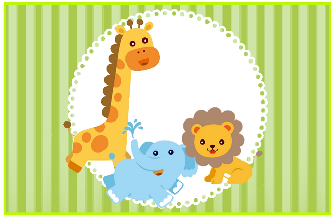 sugusconfitados candy bar animalitos bebes kit imprimible