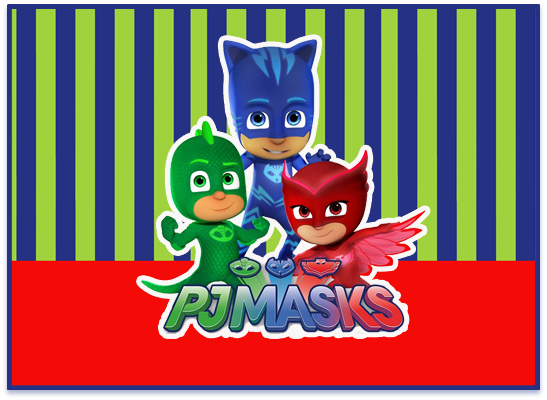 opera candy bar PJ MASK kit imprimible