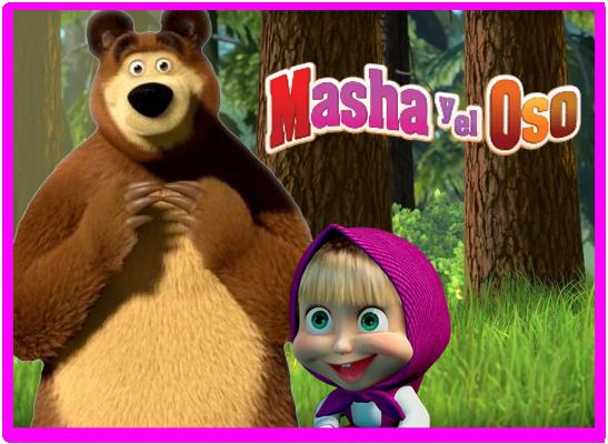 opera candy masha y el oso kit imprimible