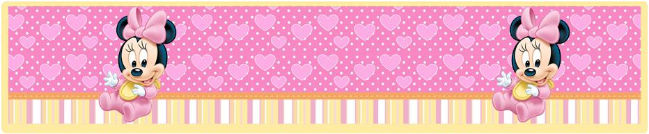 turron de mani candy bar Minnie bebe kit imprimible