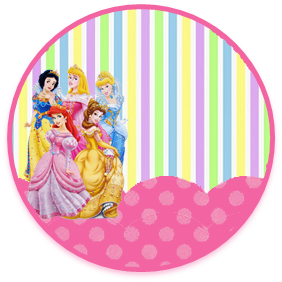 bonobon candy bar princesas disney kit imprimible