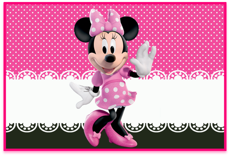 Tita candy bar minnie rosa kit imprimible