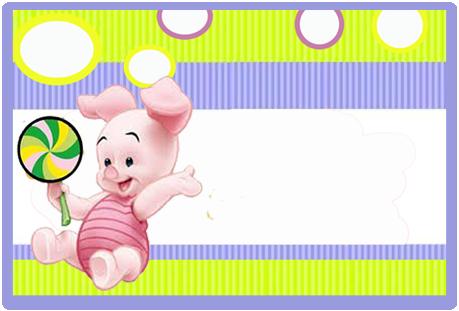 Tita candy bar piglet kit imprimible