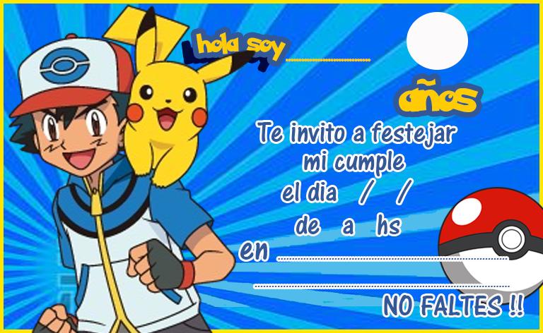 invitacion tarjetita candy bar pokemon kit imprimible