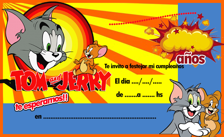 invitacion-tarjetita- candy bar tom y jerry kit imprimible