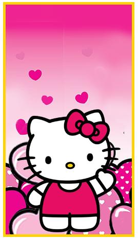 mini baggio candy-bar kitty animado kit-imprimible