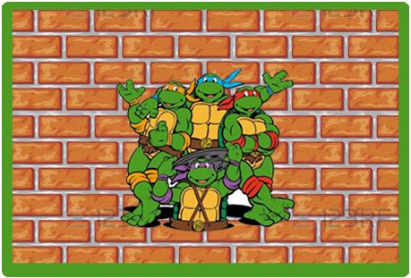 Tita candy-bar tortugas ninjas kit-imprimible