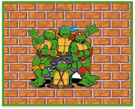 alfajores candy-bar tortugas ninjas kit-imprimible