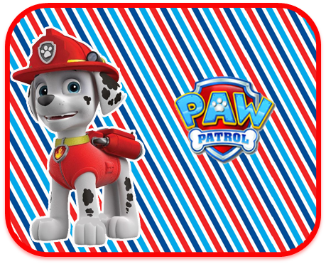 alfajores2 candy bar marshal paw patrol kit imprimible