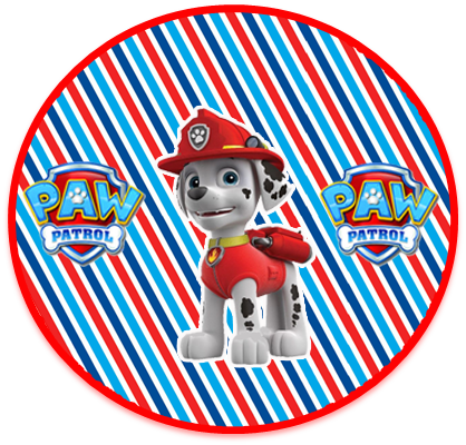 alfajores3 candy bar marshal paw patrol kit imprimible