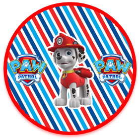 bonobon candy bar marshal paw patrol kit imprimible