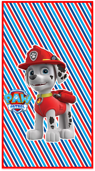 clubsocial candy bar marshal paw patrol kit imprimible