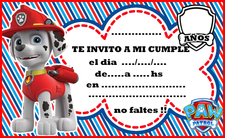 invitacion-tarjetita-candy-bar marshall paw patrol kit-imprimible