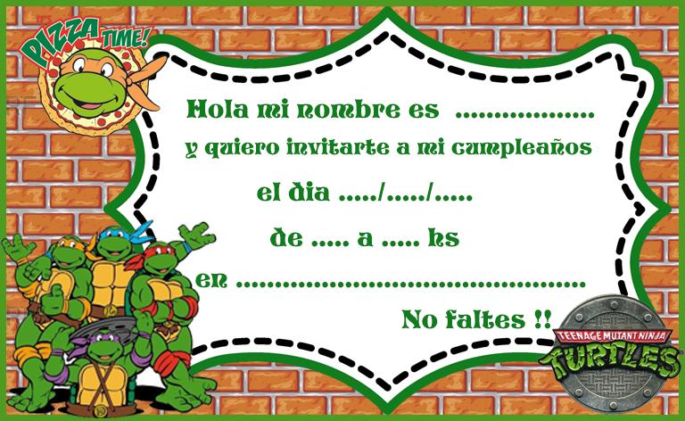 invitacion-tarjetita-candy-bar tortugas ninjas kit-imprimible