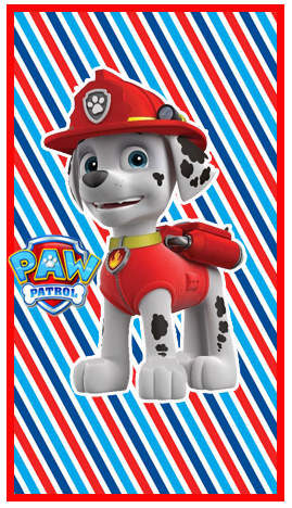 mini baggio candy bar marshal paw patrol kit imprimible
