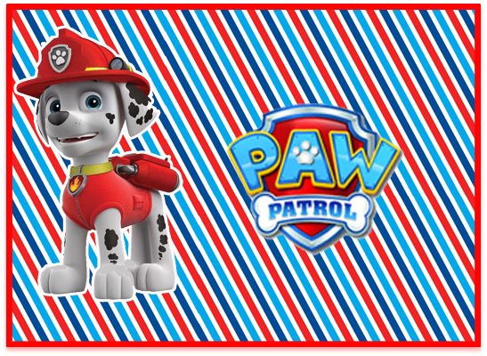 opera candy bar marshal paw patrol kit imprimible