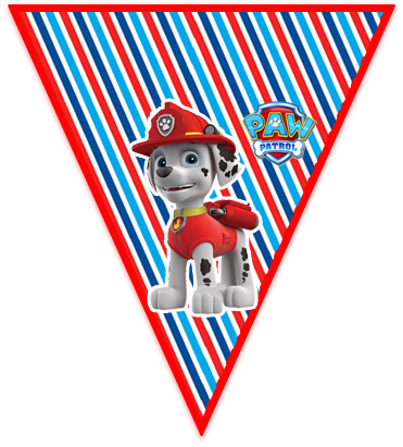paraguita candy bar marshal paw patrol kit imprimible