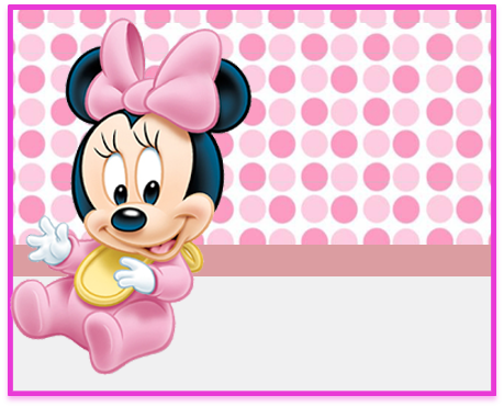 alfajores -candy bar minnie bebe 2 kit imprimible