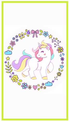 baggio mini-candy bar unicornio kit imprimible