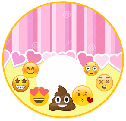 alfajores3 candy bar emoji caquita kit imprimible