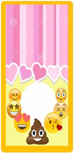 picodulce candy bar emoji caquita kit imprimible
