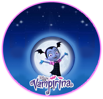 alfajores3 candy bar VAMPIRINA kit imprimible