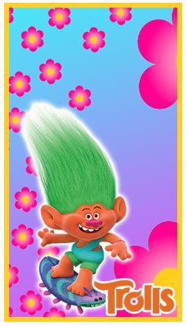 baggio mini candy bar trolls kit imprimible