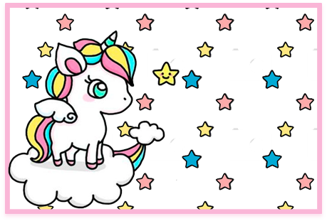 Tita candy bar unicornio en nube kit imprimible